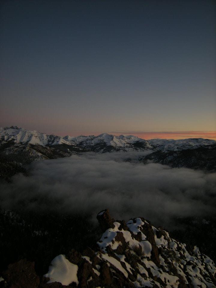 Bald Mountain Roadless Area Snow Sunset