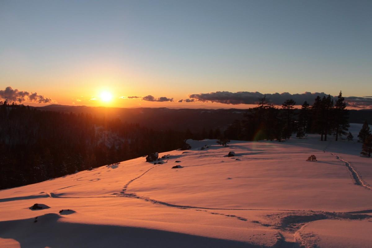 Trail of the Gargoyles Snowy Sunset