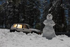 snow man highway