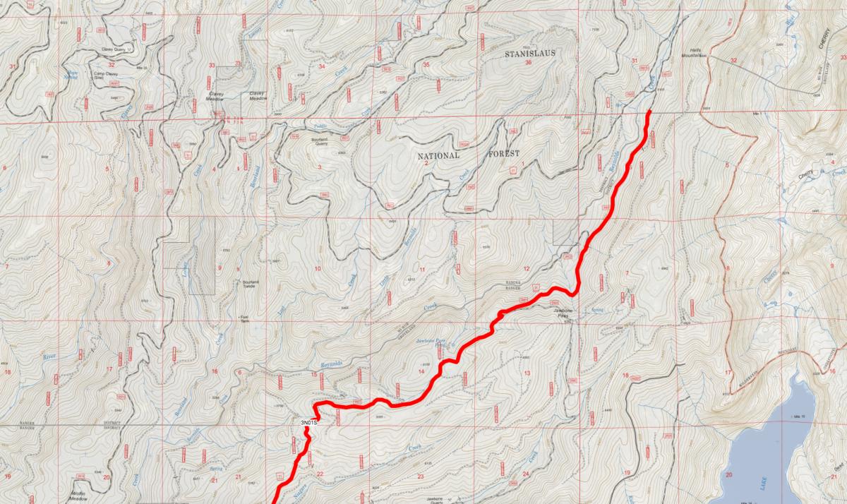 stanislaus forest storm damage map god's bath clavey river road access