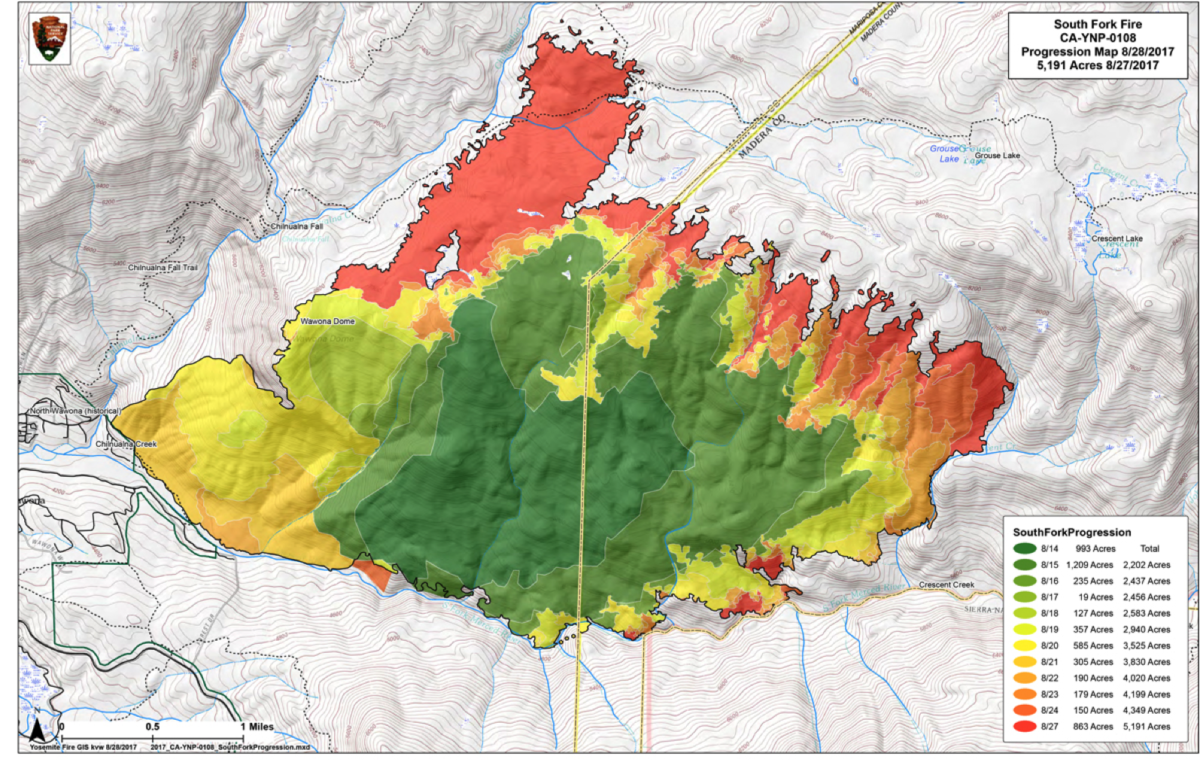 Fire Map Yosemite.Fires In Yosemite Park And The Stanislaus Forest Being Managed As